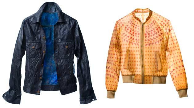 Jaqueta e blusa criados a partir de bactérias